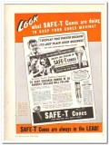 Illinois Baking Corp 1943 vintage ad ice cream SAFE-T Cones moving