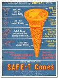 Illinois Baking Corp 1943 vintage ad ice cream SAFE-T Cones first