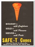 Illinois Baking Corp 1943 vintage ad ice cream Safe-T Cone sold served