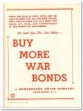 J Hungerford Smith Company 1943 vintage ad ice cream Buy War Bonds