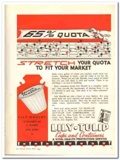Lily-Tulip Cup Corp 1943 vintage ad ice cream stretch quota Moulds