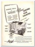 Liquid Carbonic Corp 1943 vintage ad ice cream cabinet materials