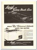 Liquid Carbonic Corp 1943 vintage ad ice cream cabinet Serve Uncle Sam