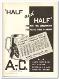 Puro Products Company 1943 vintage ad ice cream war time conservation
