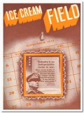 Ice Cream Field 1943 Sept vintage magazine cover industry factor war