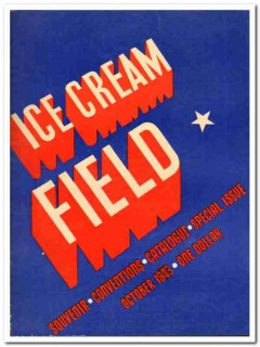 Ice Cream Field 1943 Oct vintage magazine cover conventions