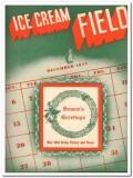 Ice Cream Field 1943 Dec vintage magazine cover Victory Peace
