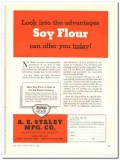 A E Staley Mfg Company 1944 vintage ad ice cream Soy Flour advantages