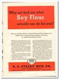 A E Staley Mfg Company 1944 vintage ad ice cream Soy Flour actually