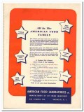 American Food Laboratories Inc 1944 vintage ad ice cream ingredients