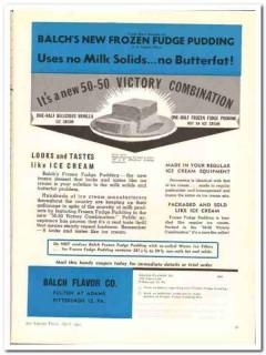 Balch Flavor Company 1944 vintage ad ice cream Frozen Fudge Pudding 3