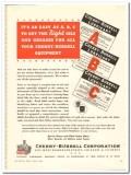 Cherry-Burrell Corp 1944 vintage ad ice cream equipment oils greases
