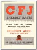 Cleveland Fruit Juice Company 1944 vintage ad ice cream Sherbet Bases