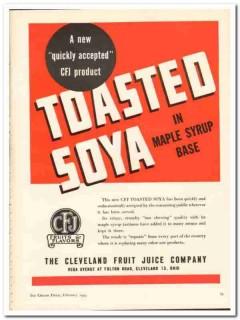 Cleveland Fruit Juice Company 1944 vintage ad ice cream Toasted Soya