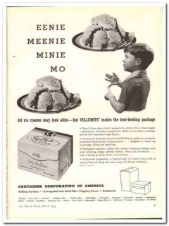Container Corp America 1944 vintage ad ice cream Vellumite package