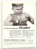 Container Corp America 1944 vintage ad ice cream Vellumite strong man