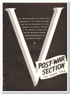 Ice Cream Field 1944 vintage ad ice cream V-Day Post War victory