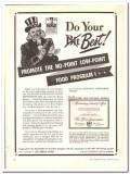 Ice Cream Field 1944 vintage ad ice cream promote food program