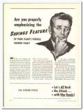 Ice Cream Field 1944 vintage ad ice cream Savings Feature payroll plan