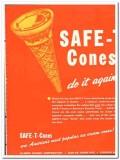 Illinois Baking Corp 1944 vintage ad ice cream Safe-T cones