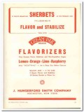 J Hungerford Smith Company 1944 vintage ad ice cream sherbets flavor