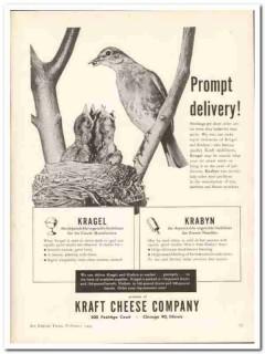 Kraft Cheese Company 1944 vintage ad ice cream Kragel Krabyn delivery
