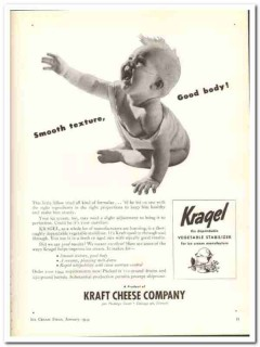 Kraft Cheese Company 1944 vintage ad ice cream Kragel smooth texture