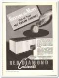 Liquid Carbonic Corp 1944 vintage ad ice cream cabinet Red Diamond