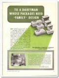 Menasha Products Company 1944 vintage ad ice cream dairyman packages