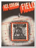 Ice Cream Field 1944 February vintage magazine cover proudly hailed