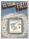 Ice Cream Field 1944 January vintage magazine cover blood save life