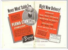 Boweys Inc 1944 vintage ad ice cream Perma-Stan stabilizer solids