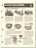 Allis-Chalmers 1959 vintage oil gas catalog compressors engines pumps
