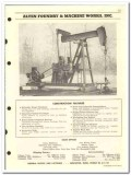 Alten Foundry Machine Works Inc 1959 vintage oil gas catalog pumping