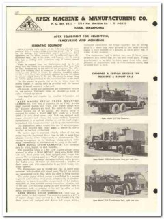 Apex Machine Mfg Company 1959 vintage oil gas catalog cementing units