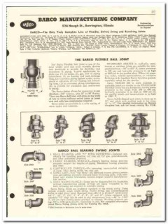 Barco Mfg Company 1959 vintage oil gas catalog flexible swing joints