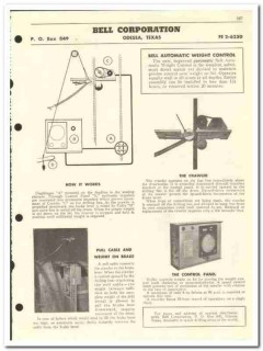 Bell Corp 1959 vintage oil gas catalog automatic weight control bit