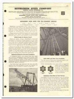 Bethlehem Steel Company 1959 vintage oil gas catalog wire rope casings