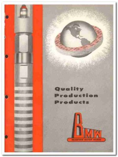 Bradford Motor Works 1959 vintage oil gas catalog production products