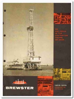 Brewster Company 1959 vintage oil gas catalog oilfield drawworks rig