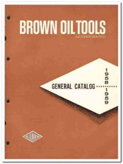 Brown Oil Tools Inc 1959 vintage oil gas catalog oilfield equipment