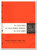 Byron Jackson Tools Inc 1959 vintage oil gas catalog oilfield products
