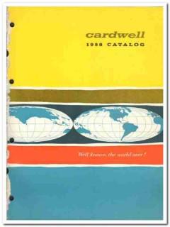 Cardwell Mfg Company 1958 vintage oil gas catalog oilfield rigs hoists