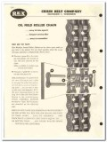 Chain Belt Company 1959 vintage oil gas catalog oilfield roller Rex
