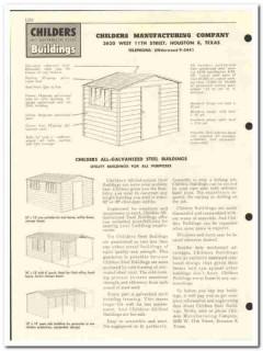 Childers Mfg Company 1959 vintage oil gas catalog steel buildings