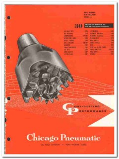Chicago Pneumatic Tool Company 1959 vintage oil gas catalog rock bits