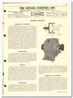 Baylor Company 1959 vintage oil gas catalog Elmagco couplings brakes