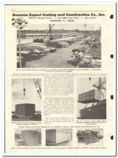 Houston Export Crating Construction Company 1959 vintage oil catalog