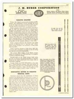 J M Huber Corp 1959 vintage oil gas catalog oilfield equipment scraper