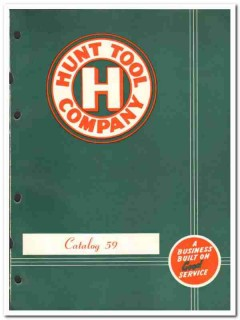 Hunt Tool Company 1959 vintage oil gas catalog oilfield joints collars